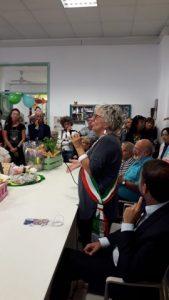 Il saluto della sindaca di Filattiera, Annalisa Folloni