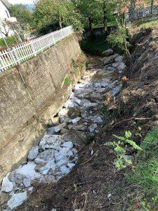 Un tratto del torrente Ardoglia dopo i lavori del Consorzio di Bonifica Toscana Nord