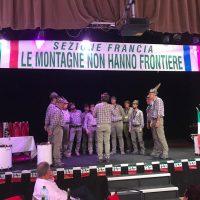 Il Coro Ana Monte Sillara al raduno degli Alpini d'Europa