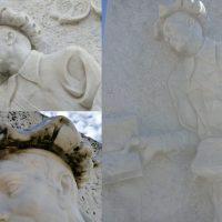 Montereggio: completato il restauro del monumento ai librai e del portale medioevale