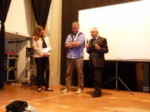 """Alessandro Laporini durante la premiazione come """"Atleta dell'anno"""""""