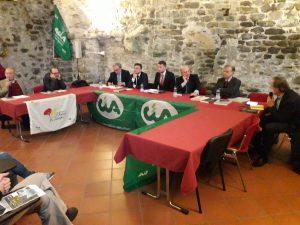 Un momento del convegno sulla rete dei castello della Lunigiana che si è svolta a Villafranca organizzata dalla Cia