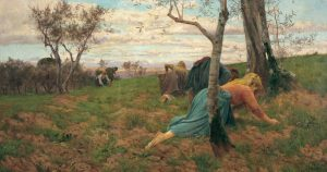 """Adolfo Tommasi, """"La raccolta delle olive"""" (1894)"""