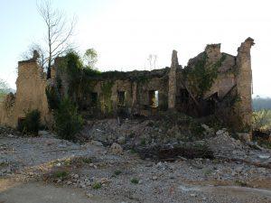 Il retro della Villa Ceppellini, ormai completamente distrutto