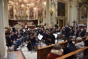 Un momento del concerto della Musica Cittadina Pontremoli