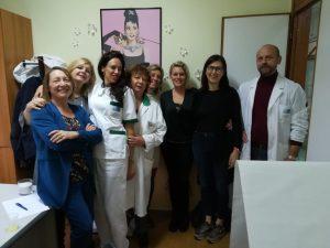 Un momento dell'inaugurazione dell'ambulatorio estetico oncologico