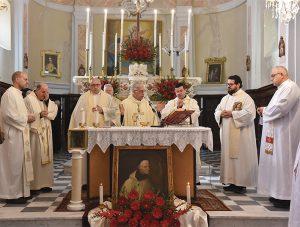 La S. Messa celebrata ad Argigliano dal Vescovo Giovanni lunedì 20 gennaio