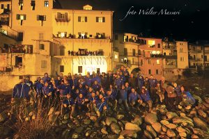 Foto di gruppo dei fuochisti di San Nicolò