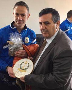 Da sinistra: il sindaco di Fivizzano Gianluigi Giannetti con il sindaco di Betlemme Anton Salman