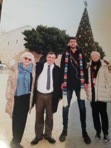 L'incontro delle due sindache con il primo cittadino di Betlemme Anton Salman e con un campione di basket palestinese.