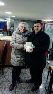 L'incontro della sindaca Annalisa Folloni con il primo cittadino di Betlemme Anton Salman.