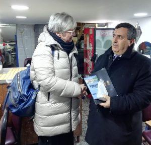 L'incontro della sindaca Lucia Baracchini con il primo cittadino di Betlemme Anton Salman