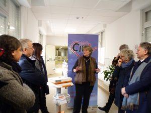 Un momento della cerimonia di donazione di un elettrocardiografo per il Pronto Soccorso dell'ospedale di Pontremoli