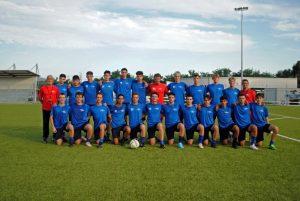 La formazione della Pontremolese impegnata nel campionato degli Juniores Provinciali