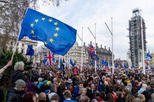 Una manifestazione dello scorso anno a Londra contro Brexit