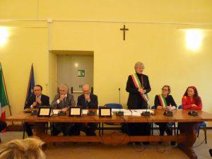Il tavolo delle autorità durante le celebrazioni per la festa di San Geminiano