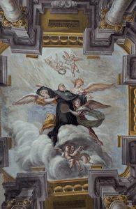La volta della cappella di San Nicola da Tolentino, opera di Francesco Natali