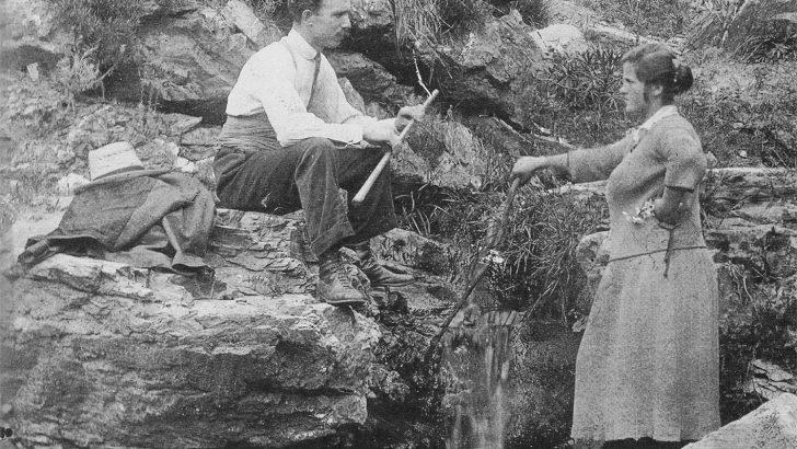 Lunigiana: quella foto di innamorati nella primavera del 1920