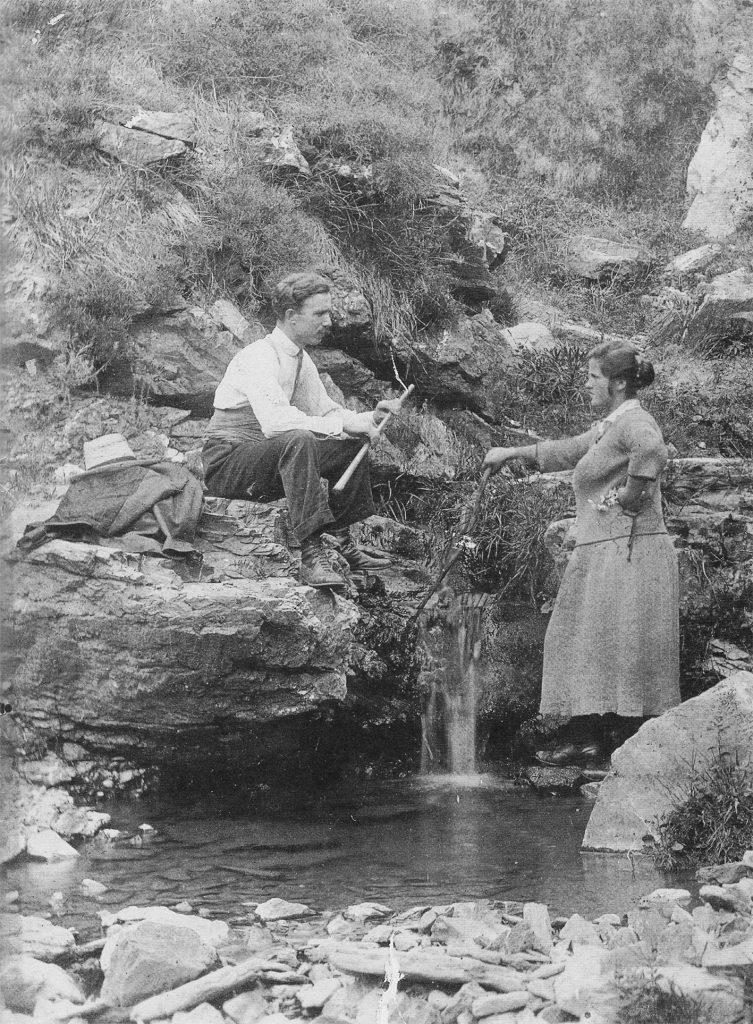 La foto che mostra Casimiro Ferrari e Clorinda Fraboschi
