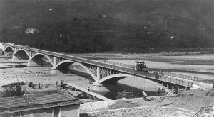 Ultimi lavori al ponte tra Bettola di Caprigliola e Albiano: è il 1908