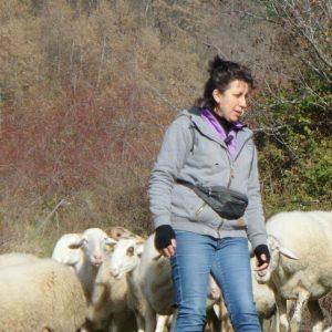 Cinzia Angiolini, allevatrice e presidente del Consorzio di valorizzazione e tutela della Pecora e dell'Agnello di razza Zerasca