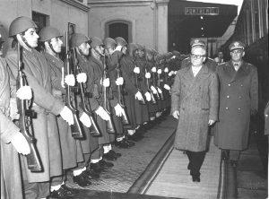 L'arrivo del presidente della Repubblica, Gronchi a Pontremoli il 12 dicembre 1955