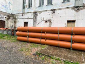 I lavori alle mura di Fivizzano