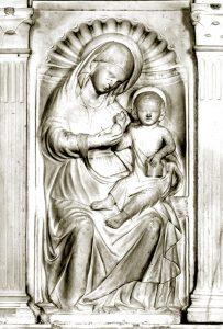 """Maestro di Virgoletta, """"Madonna col Bambino"""" (XV secolo). Chiesa parrocchiale"""