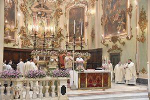 La celebrazione del solenne Pontificale nella mattina del 2 luglio in Duomo