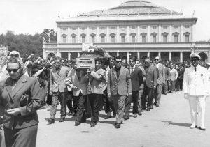 I funerali delle vittime di Reggio Emilia