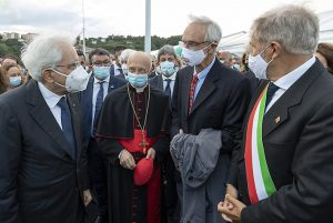 Il Presidente della Repubblica Sergio Mattarella con Renzo Piano