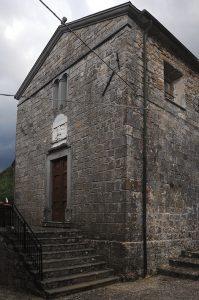 La facciata della chiesa parrocchiale di San Giorgio
