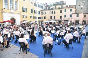 Un momento del concerto della Musica Cittadina