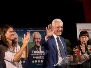 Eugenio Giani festeggia il successo