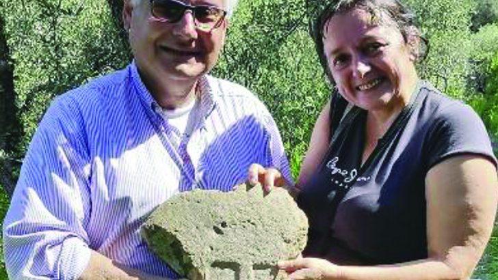 Un frammento di statua stele rinvenuto a Levanto