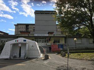 L'ingresso dell'ospedale di Pontremoli