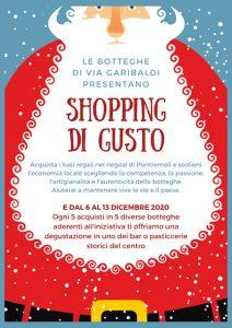 """La locandina dell'iniziativa """"Shopping di Gusto"""""""