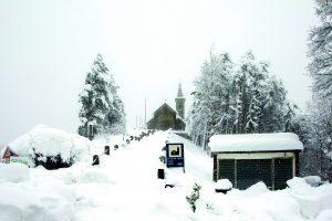 La neve al Passo della Cisa (foto Walter Massari)