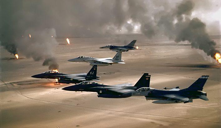 """Trent'anni fa con """"desert storm"""" iniziava la Guerra del Golfo contro Saddam Hussein"""