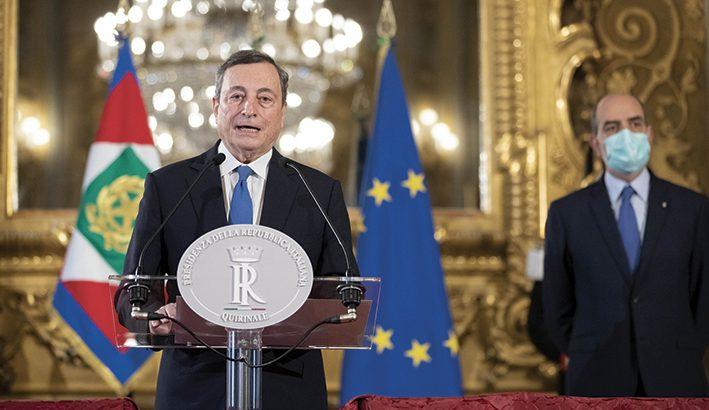 Tutti (o quasi) uniti  intorno a Draghi
