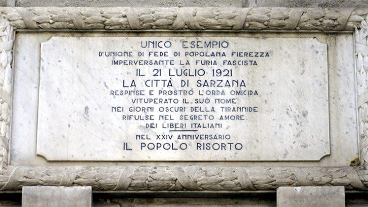 A Sarzana nel 1921 il coraggio di dire no alla violenza delle  squadre fasciste