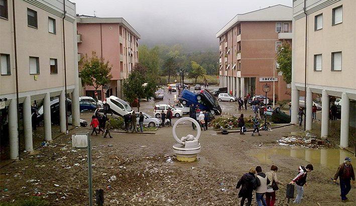 Dieci anni fa  l' alluvione del  25 ottobre 2011